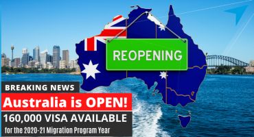 Australia is OPEN! 160,000 VISA ALLOCATIONS announced for the 2020-21 Migration Program Year APPLY NOW & GET IN QUEUE!